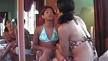 Lesbian trannies doing their make up