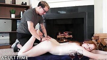 MODEL TIME - Trans Babe Shiri Allwood Romantic Strapon Anal Sex